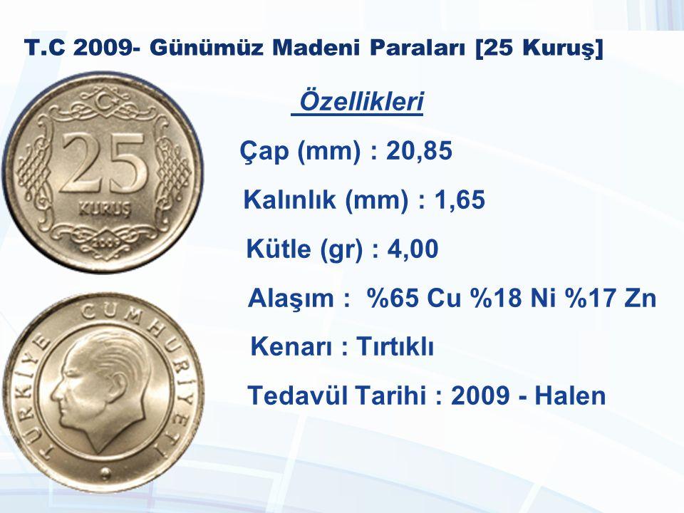 T.C 2009- Günümüz Madeni Paraları [25 Kuruş]
